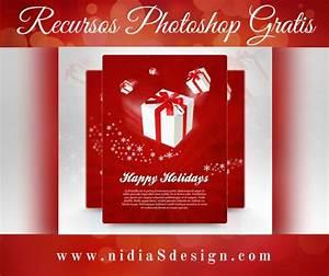 Christmas Flyer Design Gt Psd Gratis Template Flyer Navideño Con Fondo Rojo