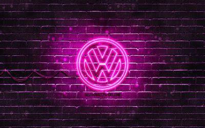herunterladen hintergrundbild volkswagen purple logo