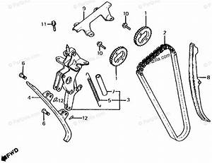 Honda Motorcycle 1985 Oem Parts Diagram For Cam Chain