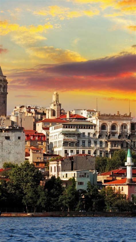 wallpaper turkey istanbul sea sunrise  travel
