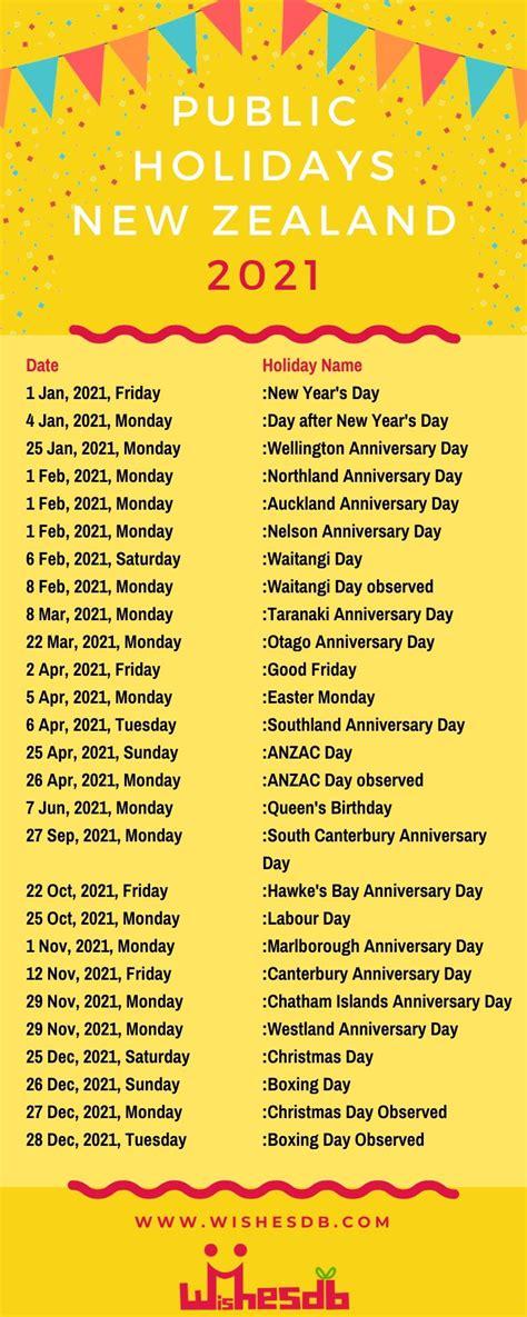 public holidays   zealand  national holidays