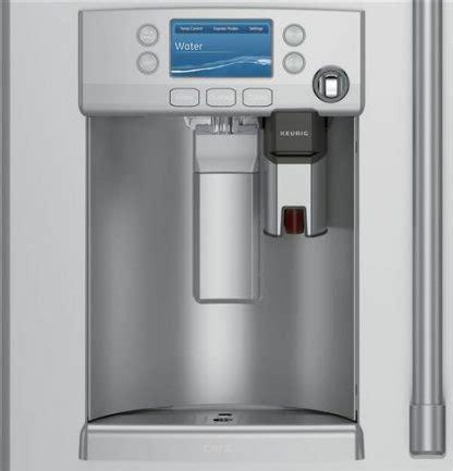 ge cafe series cfeushss energy star  cu ft french door refrigerator  keurig  cup