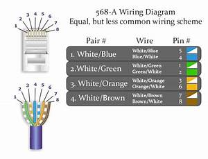 Trailer Wiring Diagram  Cat5 Ethernet Cable Wiring Diagram