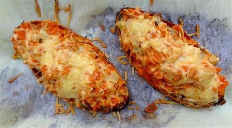 recette de la patate douce farcie aux champignons