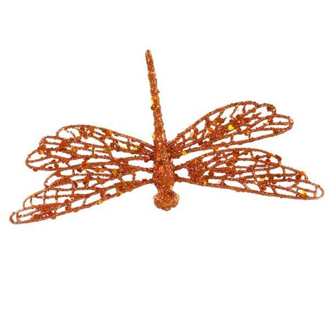 vickerman   copper glittered dragonfly christmas