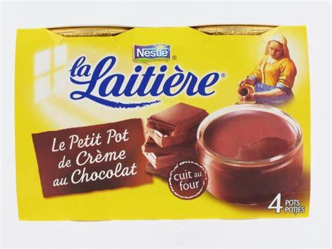 petit pot de cr 232 me saveur chocolat la laiti 232 re 4x100 grs 02 produits frais proxilivre