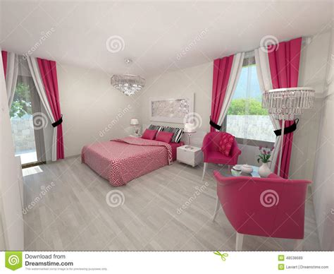 chambres modernes chambre à coucher moderne illustration stock image 48538689