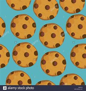 Vector Illustration Of Seamless Chocolate Chip Cookies