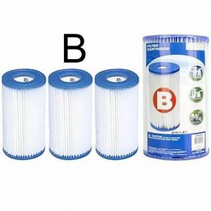 Filtre A Piscine Intex : cartouches filtration filtres piscine intex b lot de 3 ~ Dailycaller-alerts.com Idées de Décoration