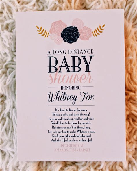 Life As A Fox Long Distance Baby Shower