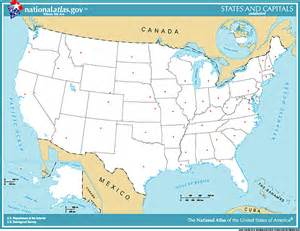 Map with States and Capitals Printable