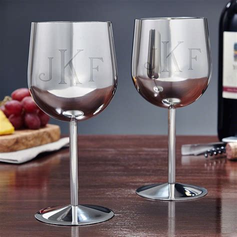 concord stainless steel wine glasses set