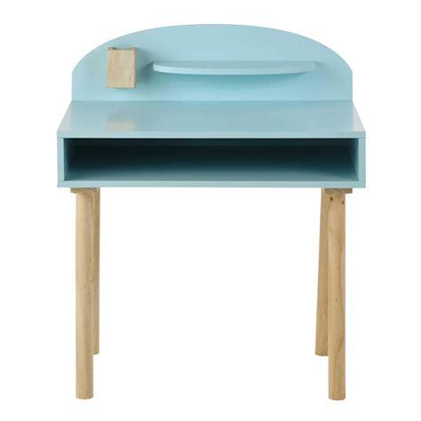 bureau enfant en bois bleu l 70 cm nuage maisons du monde