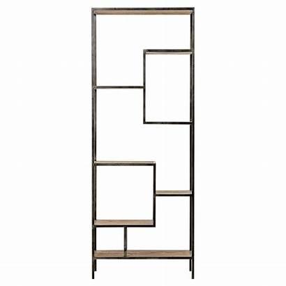 Bookcase Modern Metal Repurposed Pine Classic Zane