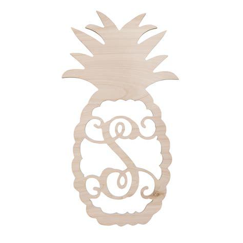 wooden monogram pineapple home decor letters