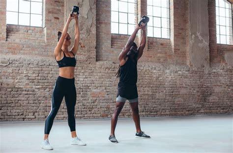 kettlebell workout plan training wellandgood workouts marathon