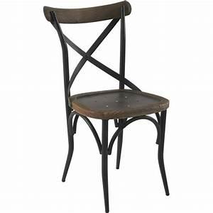 Chaise Bistrot Maison Du Monde : chaise industrielle de bistrot en bois et m tal vintage ~ Melissatoandfro.com Idées de Décoration