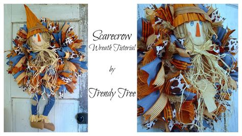 Diy Scarecrow Wreath With Legs By Trendy Tree Youtube