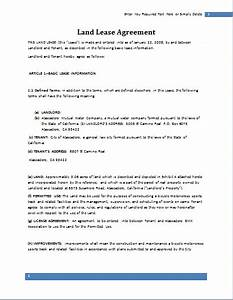 land lease agreement template for word document hub With land rental contract template