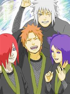 Jiraiya, Nagato, Yahiko, and Konan! | Naruto | Pinterest
