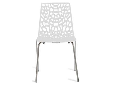 chaise blanche conforama chaise groove 2 coloris blanc vente de chaise conforama
