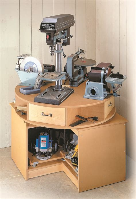 revolving tool station woodsmith plans give