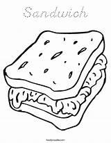 Coloring Sandwich Worksheet Picnic Sheet Cheese Foods Noodle Template Twistynoodle Twisty California Noodles Sandwiches Printable Outline Dog Sheets Built Usa sketch template