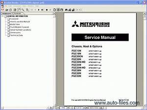 Mitsubishi Forklift Trucks  Spare Parts Catalog  Repair