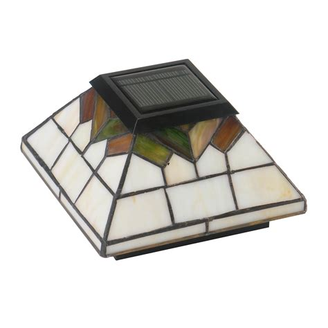 caps wg322 stained glass wellington solar post cap