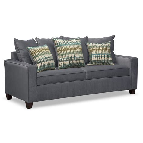 value city furniture sleeper sofa bryden queen memory foam sleeper sofa slate value city