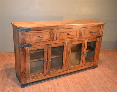 rustic tv console table rustic solid wood sideboard buffet console table media tv