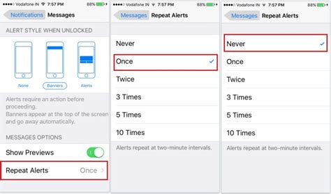 disable alert iphone how to turn repeat message alert on iphone