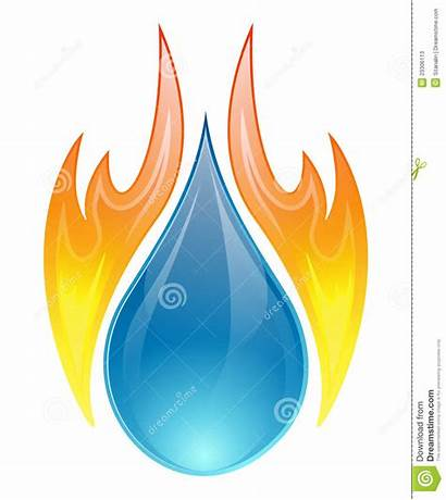 Fire Water Vector Concept Background Flame Illustration