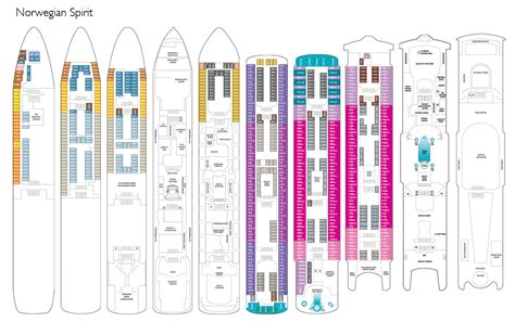 ncl deck plans spirit cruise line travel