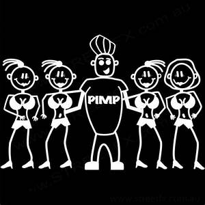 Big Pimp Family Stick Figure Car Window Sticker Decal | eBay