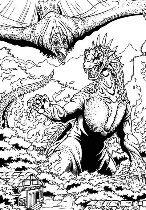 rodan coloring pages coloring home