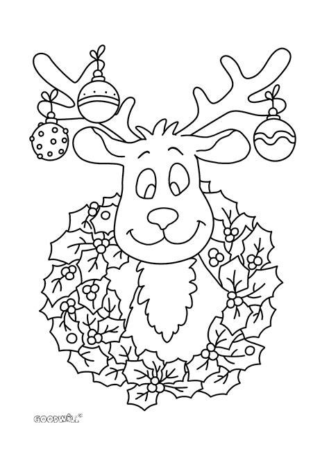 Kleurplaten Kerst by Kleurplaat Kerst Rendier Kerst Puzzels En Kleurplaten