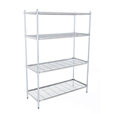 Stainless Steel 4 Tier Wire Shelving Unit 1700 High