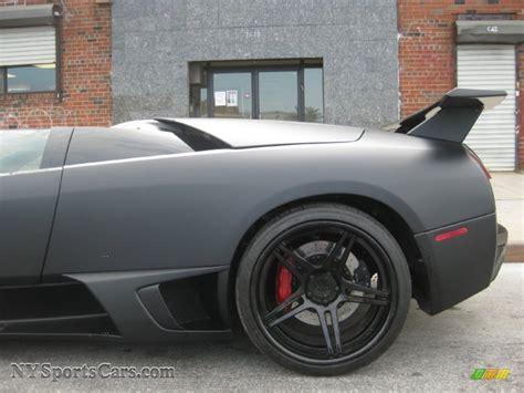 lamborghini murcielago lp roadster  matte black