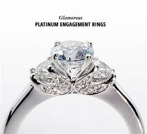 Glamorous platinum engagement rings green wedding shoes for Platinum wedding rings