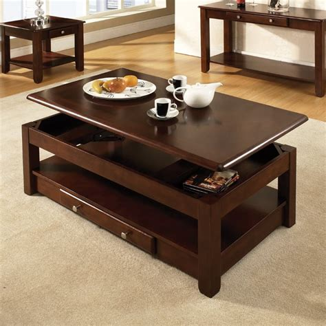 steve silver nelson lift top coffee table  cherry nlclc