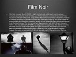 Introduction to film genre study #1 film noir