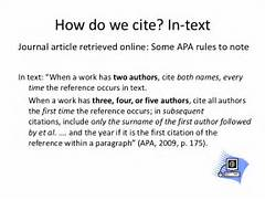 Apa Journal In Text Citation Cite It Right Eslw05 Identifying Parts Of A Citation Identifying Parts Of A Citation Newspaper Article Citation APA Style Thomson Reuters Community APA Requires Use Of A DOI To Reference An Electronic Resource
