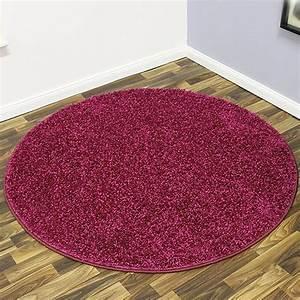 Teppich Rund 200 Günstig : shaggy hochflor teppich mistral rund 133cm oder 200cm brombeere 101847 ~ Indierocktalk.com Haus und Dekorationen