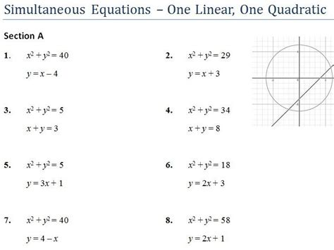 solving quadratic equations graphically worksheet tes