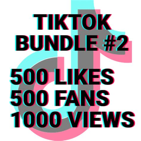 TikTok Bundle #2: 500 Likes + 500 Followers + 2500 Views ...