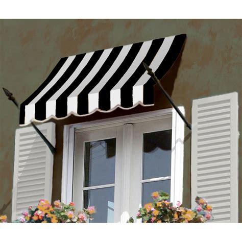awntech  beauty mark  orleans    windowentry awning blackwhite stripe