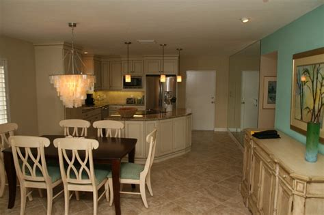siesta key condo remodel beach style dining room