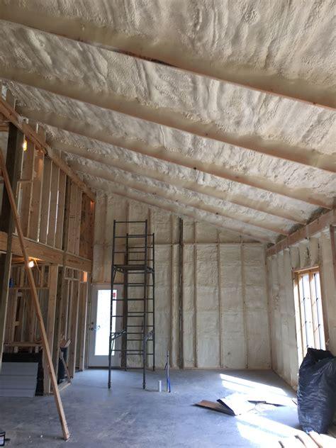 closed cell spray foam insulation   pole barn home pole barn homes pole barn house plans