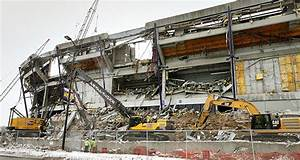 Metrodome demolition work stopped after beam falls ...